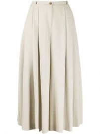 Michael Kors Collection Pleated high-waisted Culottes - Farfetch at Farfetch