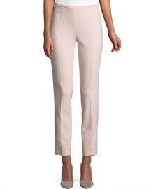 Michael Kors Collection Side-Zip Stretch-Pebble Crepe Narrow-Leg Pants at Neiman Marcus