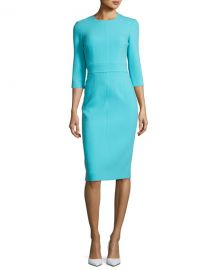 Michael Kors Collection Spring Dress in Turquoise at Bergdorf Goodman