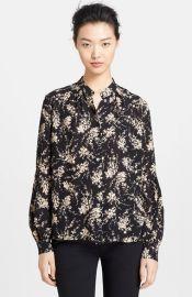 Michael Kors Elderflower Print Silk Shirt at Nordstrom