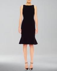 Michael Kors Flare-Hem Crepe Dress at Neiman Marcus