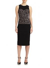 Michael Kors Lace Bodice Crepe Dress at Saks Off 5th