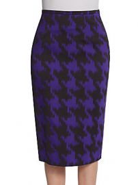Michael Kors Purple Houndstooth Skirt at Saks Off 5th