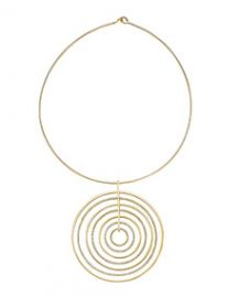 Michael Kors Statement Pave-Disc Pendant Necklace at Neiman Marcus