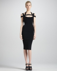 Michael Kors fitted dress with cross back at Neiman Marcus