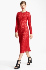 Michael Kors red lace dress on Revenge at Nordstrom