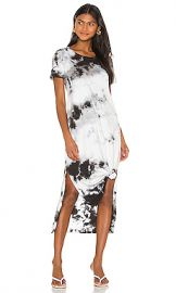 Michael Lauren Augustus Dress in Black  amp  White Tie Dye from Revolve com at Revolve