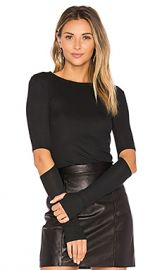Michael Lauren Solomon Elbow Cut Out Tee in Caviar from Revolve com at Revolve