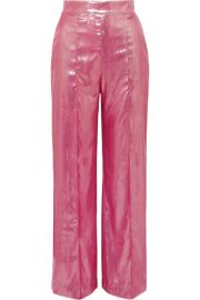 Michael Lo Sordo - Marina metallic velvet wide-leg pants at Net A Porter