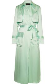 Michael Lo Sordo - Silk-satin trench coat at Net A Porter