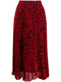 Michael Michael Kors Floral Print Pleated Midi Skirt - Farfetch at Farfetch