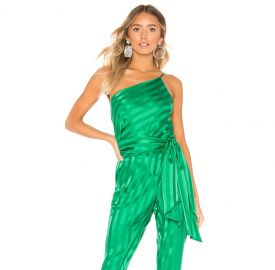 Michelle Mason One Shoulder Top in Green from Revolve com at Revolve