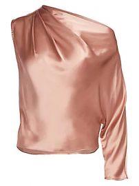 Michelle Mason - One-Sleeve Silk Drape Top at Saks Fifth Avenue