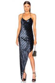 Michelle Mason Asymmetrical Bias Dress in Midnight   FWRD at Forward