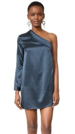 Michelle Mason Asymmetrical Lapel Shift Dress at Shopbop