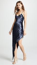 Michelle Mason Asymmetrical Velvet Bias Dress at Shopbop