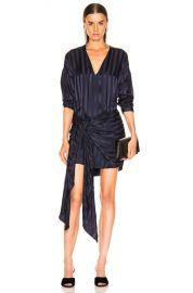 Michelle Mason Long Sleeve Wrap Dress in Black Currant   FWRD at Forward