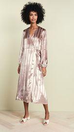 Michelle Mason Long Sleeve Wrap Velvet Dress at Shopbop