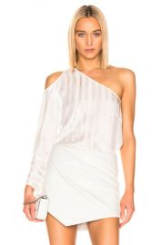 Michelle Mason One Sleeve Cut Out Top in Ivory   FWRD at Forward