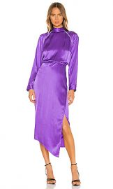 Michelle Mason Raglan Dress With Crystal in Grape from Revolve com at Revolve