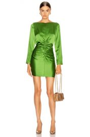 Michelle Mason Ruched Mini Dress in Clover   FWRD at Forward
