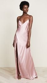 Michelle Mason Strappy Wrap Gown at Shopbop