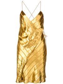 Michelle Mason Strappy Wrap Mini Dress - Farfetch at Farfetch