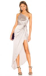 Michelle Mason Twist Knot Gown in Ash from Revolve com at Revolve
