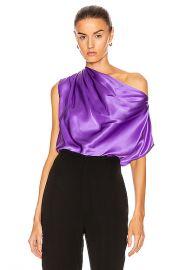 Michelle Mason for FWRD Asymmetrical Drape Top in Grape   FWRD at Forward