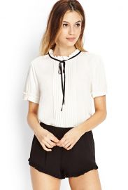 Micro Pleated Blouse at Forever 21