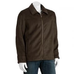Micro shearling suede jacket by Chaps at Kohls