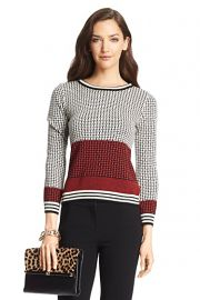 Microstitch Wool Sweater at DvF