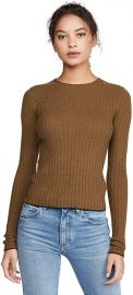 Microstripe Crew Pullover by Vince at Amazon