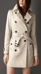 Mid Length Cotton Trench Coat at Burberry