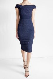 Midi Dress with Cotton at Stylebop