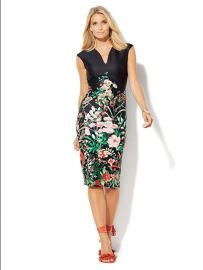 Midi Scuba Sheath Dress at NY&C