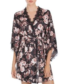 Midnight Bakery Lace-Trimmed Floral Kimono  at Bloomingdales