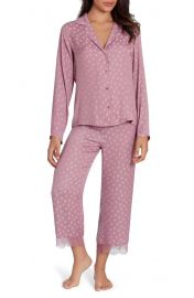 Midnight Bakery Lace Trim Dot Pajamas at Nordstrom