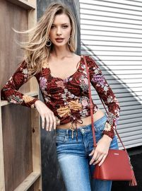 Mikah Ruched Top at Guess