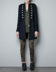 Military Coat at Zara