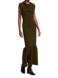 Military Cowl-Neck Ribbed Dress at Saks Fifth Avenue