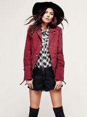 Military Twill Jacket at Free People