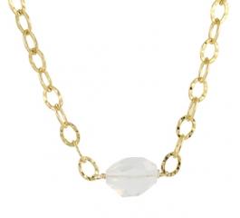 Milk Stone Quartz Necklace at Peggy Li