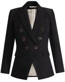Miller Textured Dickey Jacket  at Veronica Beard