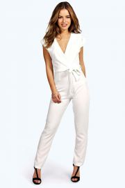 Millie wrap jumpsuit at Boohoo