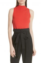 Milly Mock Neck Tank at Nordstrom