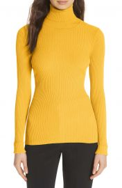 Milly Ribbed Turtleneck Sweater at Nordstrom