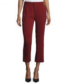 Milly Stretch Crepe Cigarette Pants   Neiman Marcus at Neiman Marcus