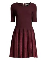 Milly - Lurex Pleated Fit- -Flare Dress at Saks Fifth Avenue
