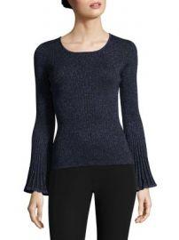 Milly - Metallic Rib Sweater at Saks Fifth Avenue